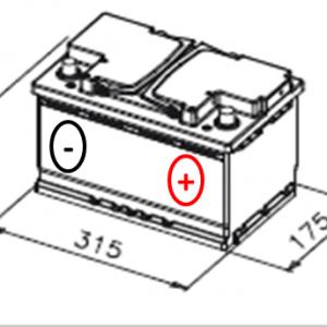 Esquema Batería de Coche Varta F17