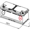Esquema batería VARTA H15 AGM START STOP